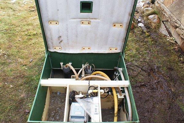 Результат сервисного обслуживания автономной канализации Астра 8